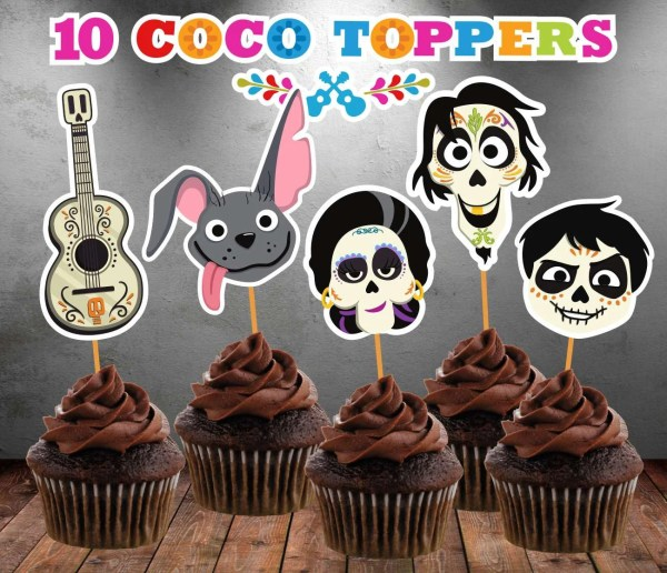 Coco Disney Cupcake Toppers Instant Printable