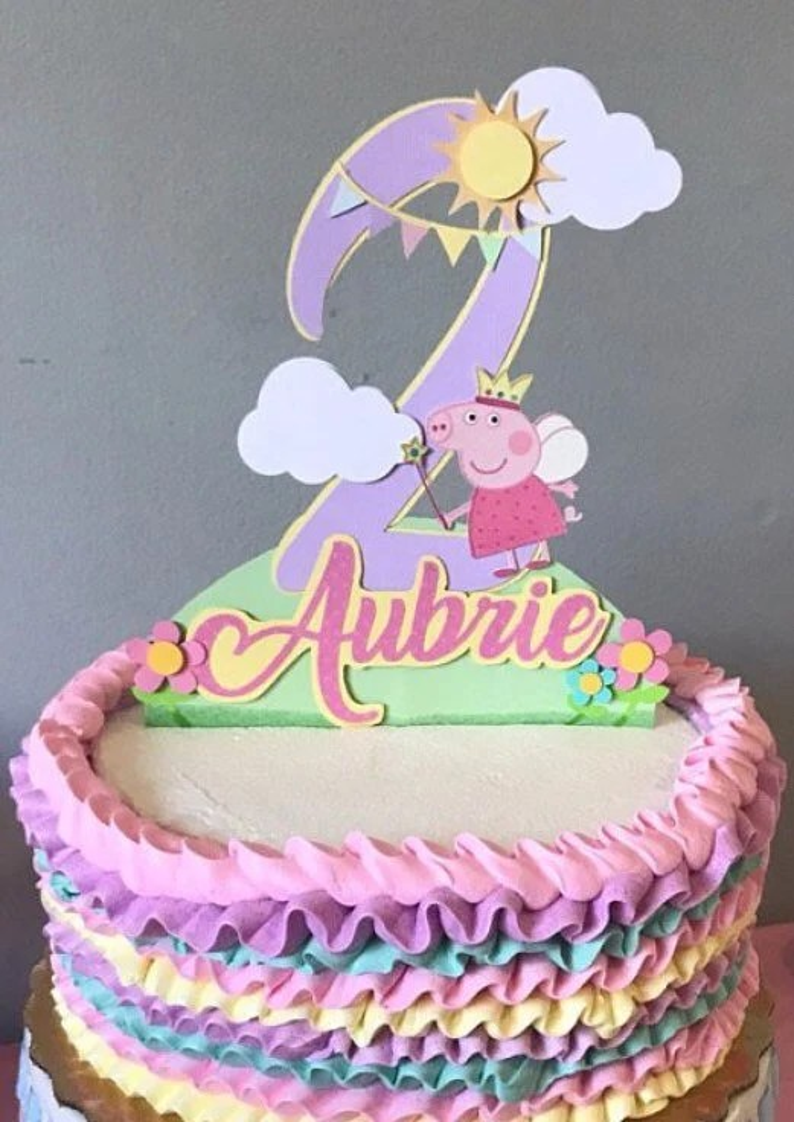 Peppa Pig Cake Topper Peppa Pig Birthday Cake Topper Peppa Pig Centerpiece Peppa Pig Birthday Peppa Pig Banner