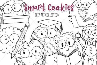 Smart Cookies Back to School Illustrations Cute School Etsy