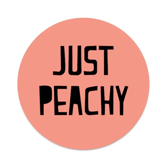 Just Peachy 2X STICKERS ONLY for your Phone Pop Grip Phone   Etsy