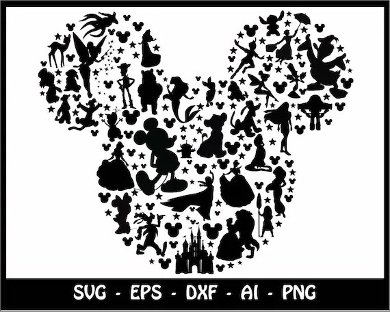 Mickey mouse SVG Minnie mouse SVG disney svg mickey head