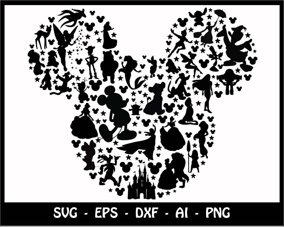 Mickey mouse SVG, Minnie mouse SVG, disney svg, mickey