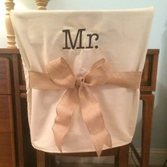 Chair Back Covers Wedding Graphic Design Monogrammed Mr Cover Etsy Image 0