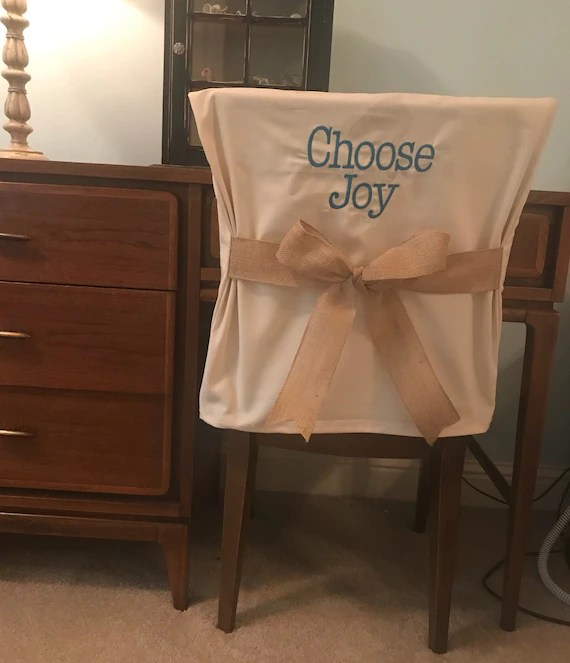 dorm chair covers etsy hanging youtube desk cover with saying monogrammed back image 0