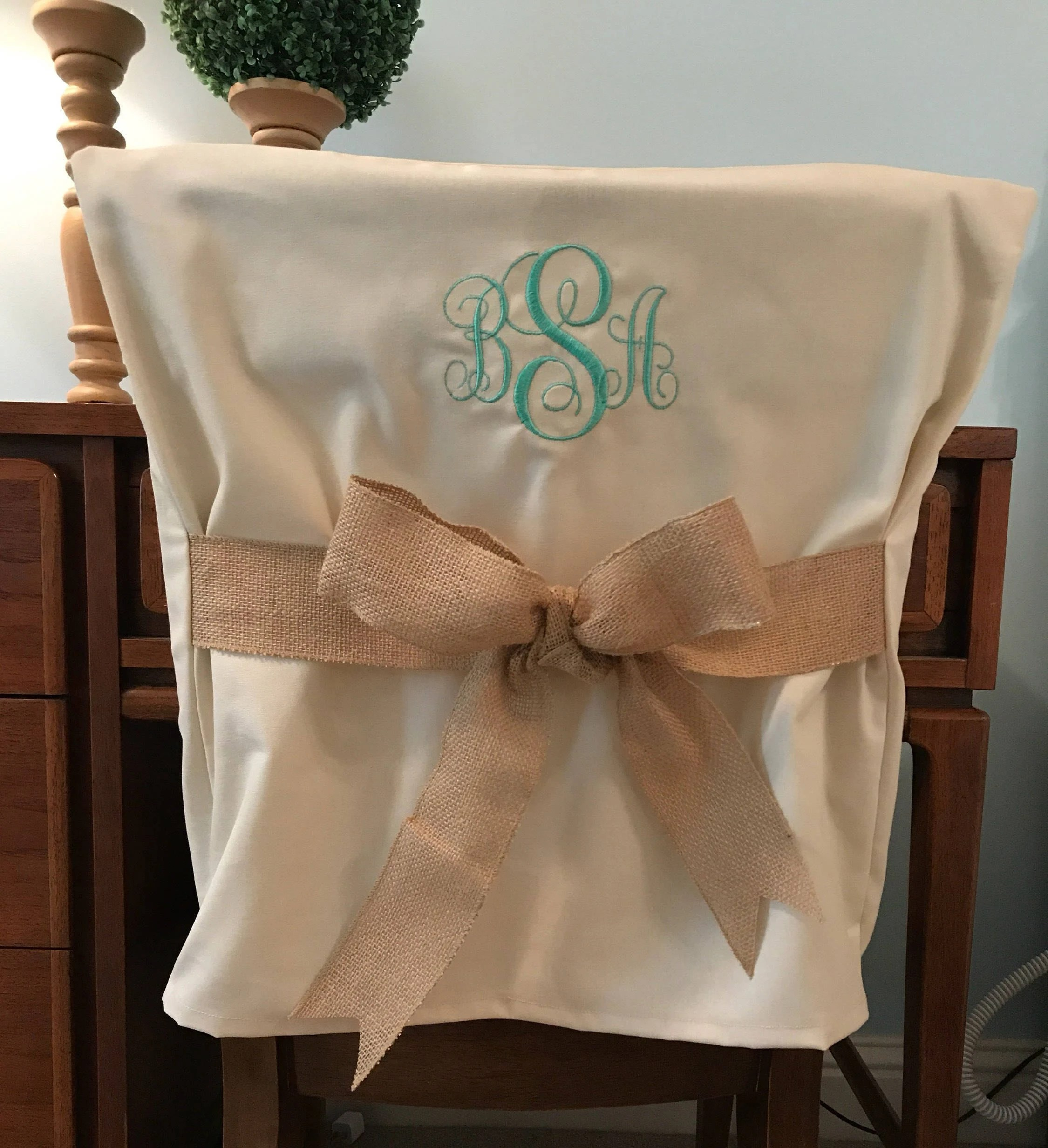 dorm chair covers etsy web lawn chairs desk monogrammed back cover image 0