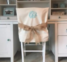 dorm chair covers etsy wholesale banquet desk monogrammed back cover image 0