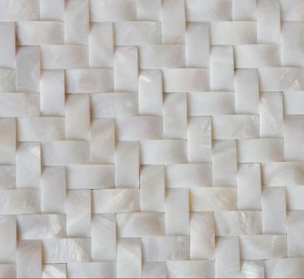 white mother of pearl herringbone mosaic tile etsy