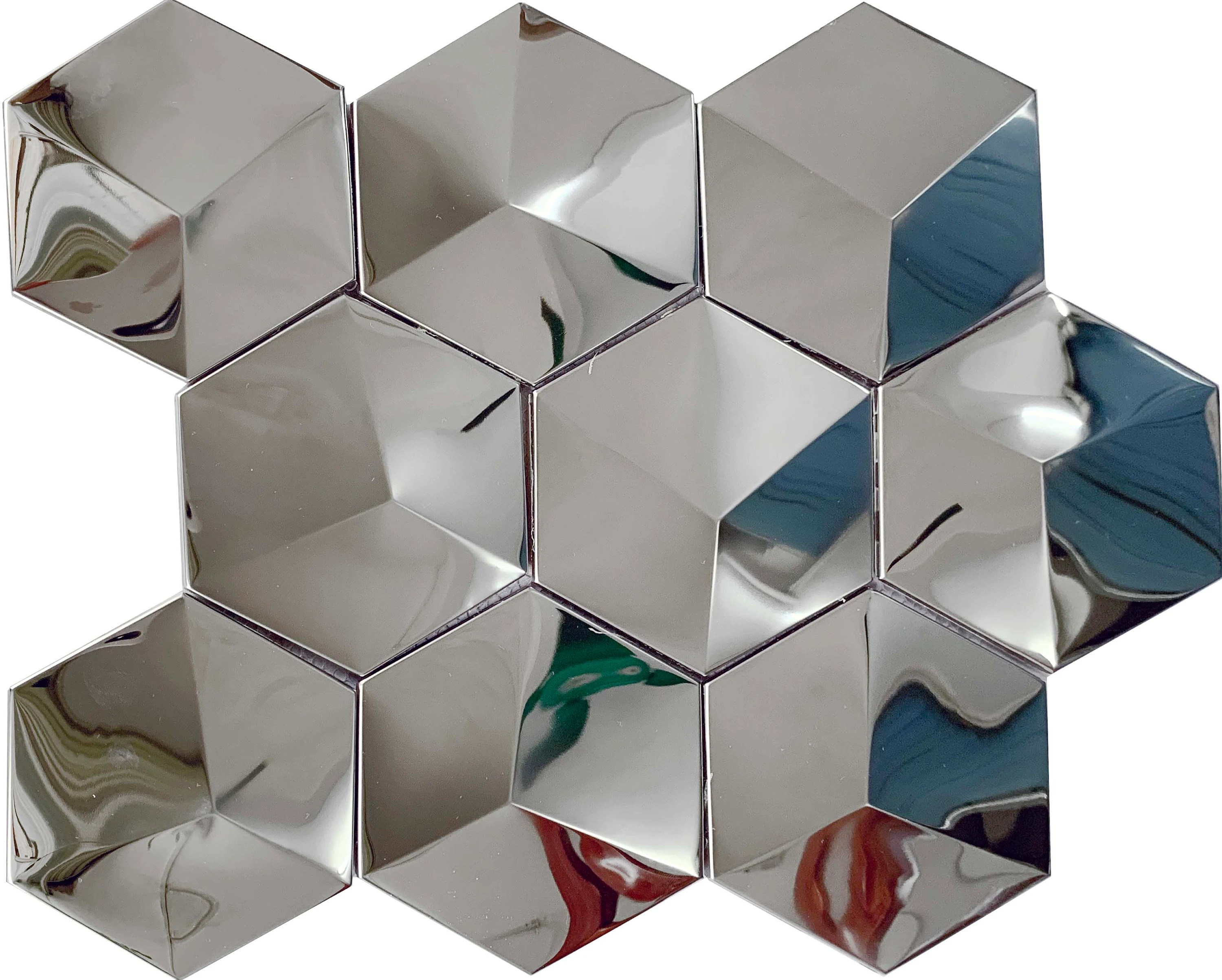 silver stainless steel accent tile etsy