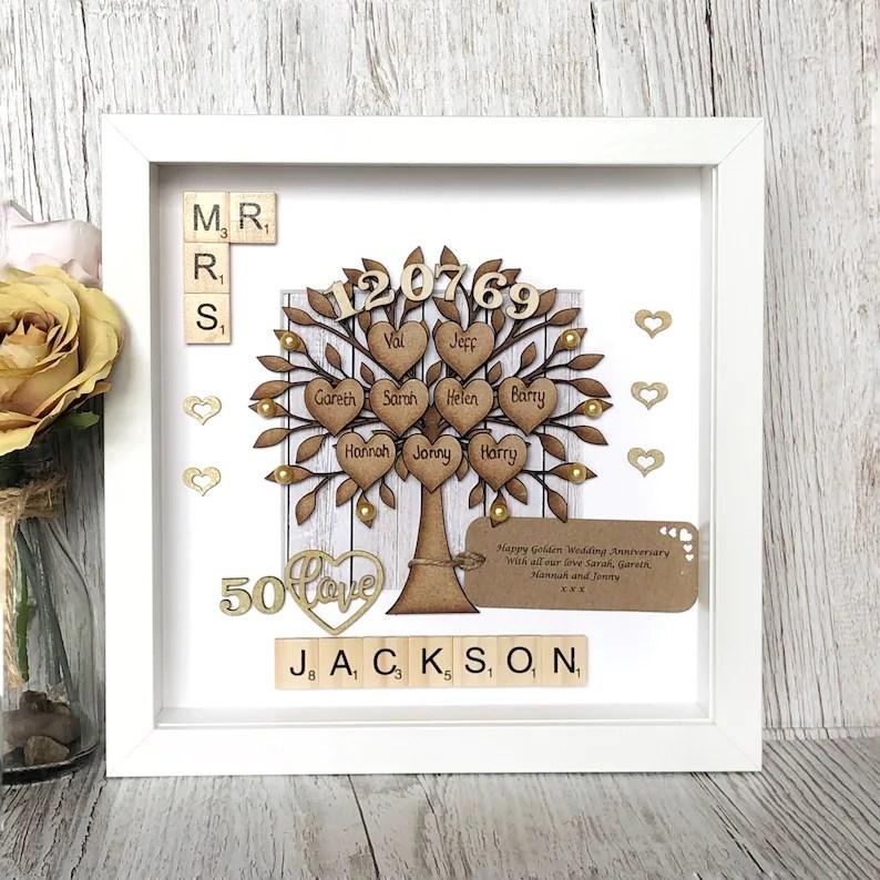 golden wedding anniversary gift