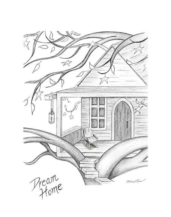 House Pencil Sketch : house, pencil, sketch, Dream, House, Pencil, Sketch