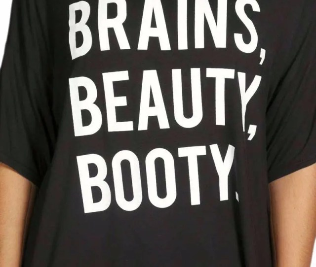 Brains Booty Beauty Casual Black Big Shirt Plus Sizes Available