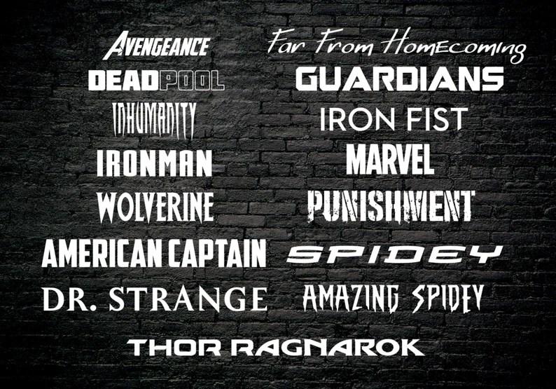 Download Fandom Font Pack 17 Marvel Universe Fonts 60 Font   Etsy