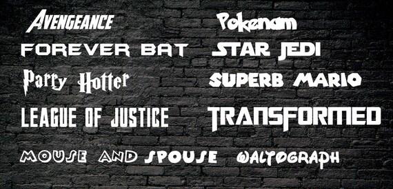 Download Fandom Font Pack 20 Font Variations Digital Download   Etsy