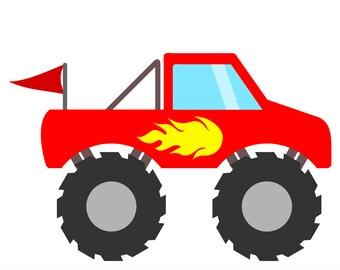 Download Monster truck svg | Etsy