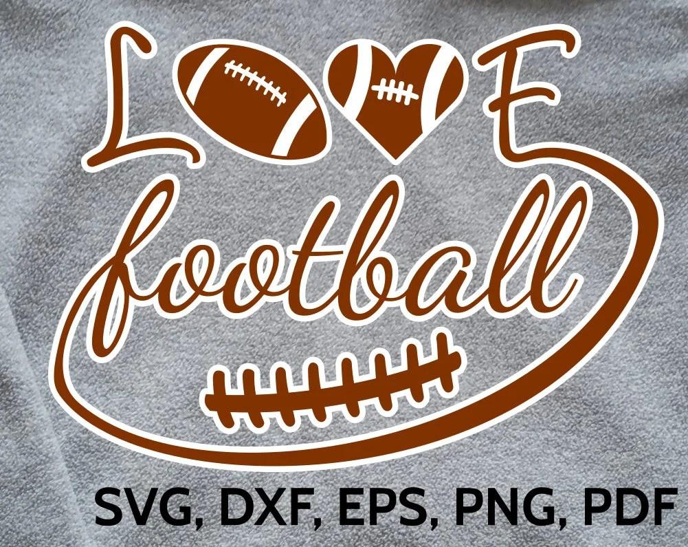 Download Love Football SVG Design - SVG Football Love cut file for ...