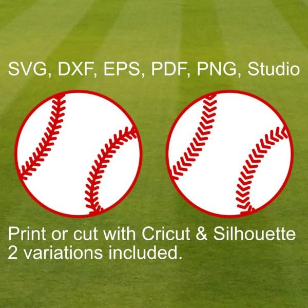 7 Sports Ball Svg Files Cricut & Silhouette Football