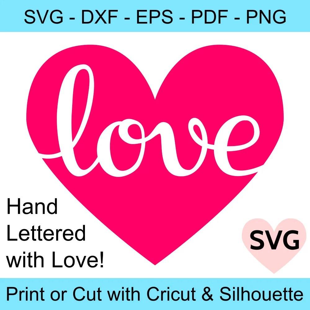 Download A beautiful handwritten Love in a Heart SVG design for ...