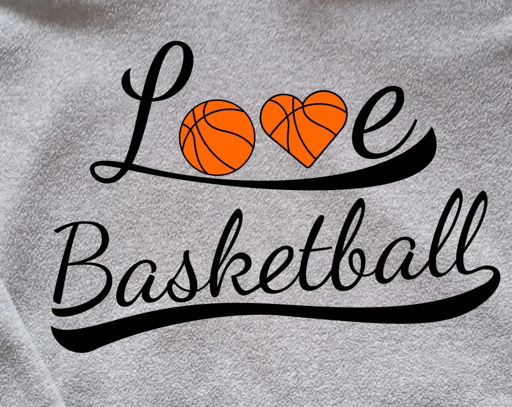 Download Love Basketball SVG Design to make cards, gifts or tshirts ...