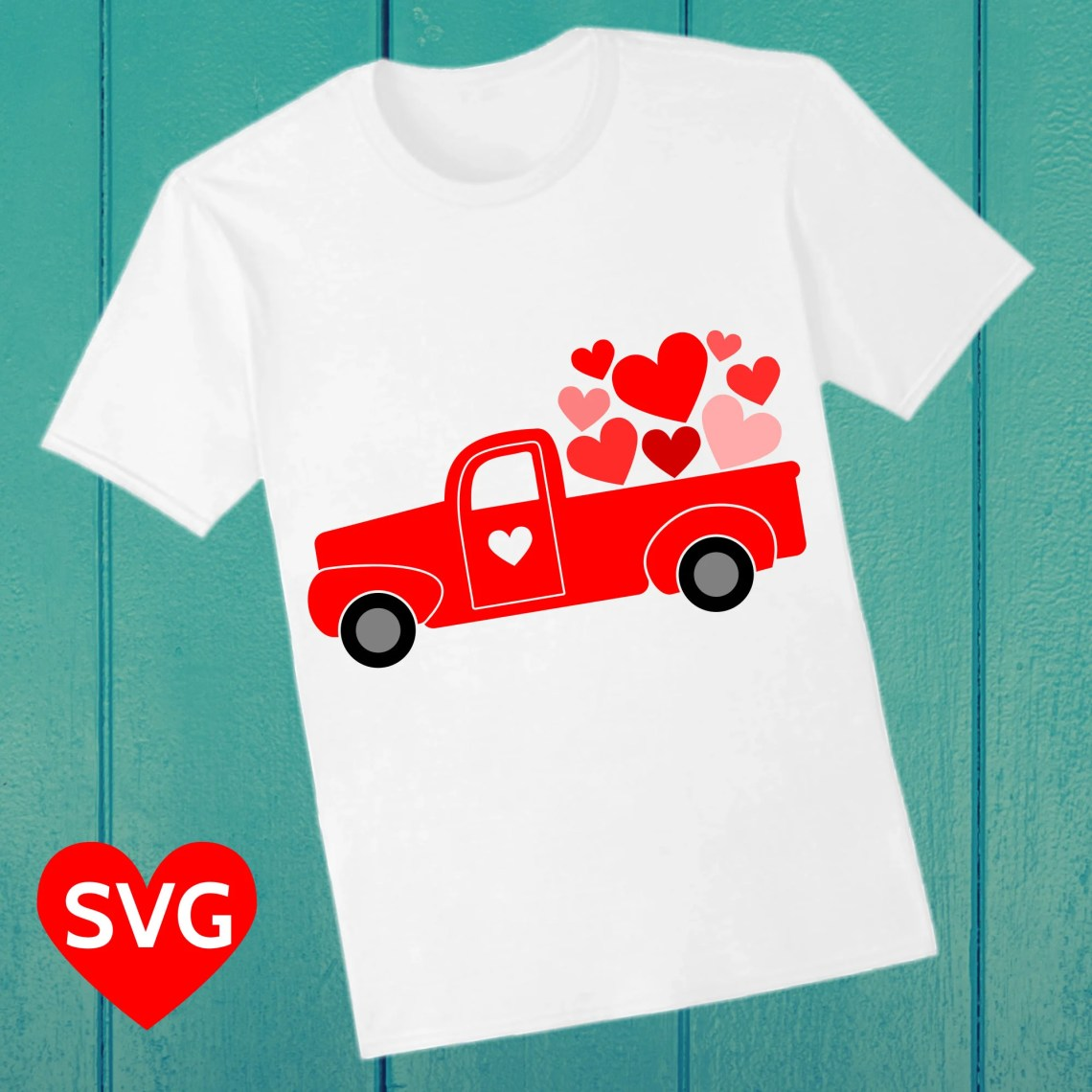Download Valentine's Day SVG Love Truck carrying a truck load of ...