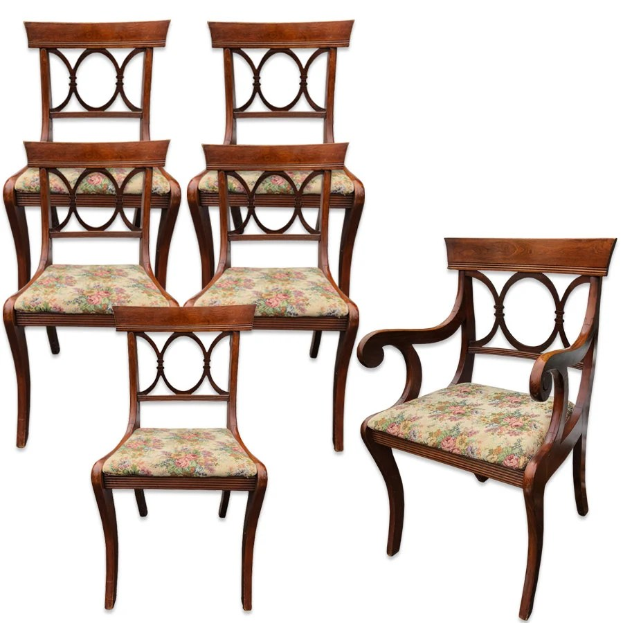 tell city chairs pattern 4526 executive office chair etsy set of 6 antique co mahogany country dining
