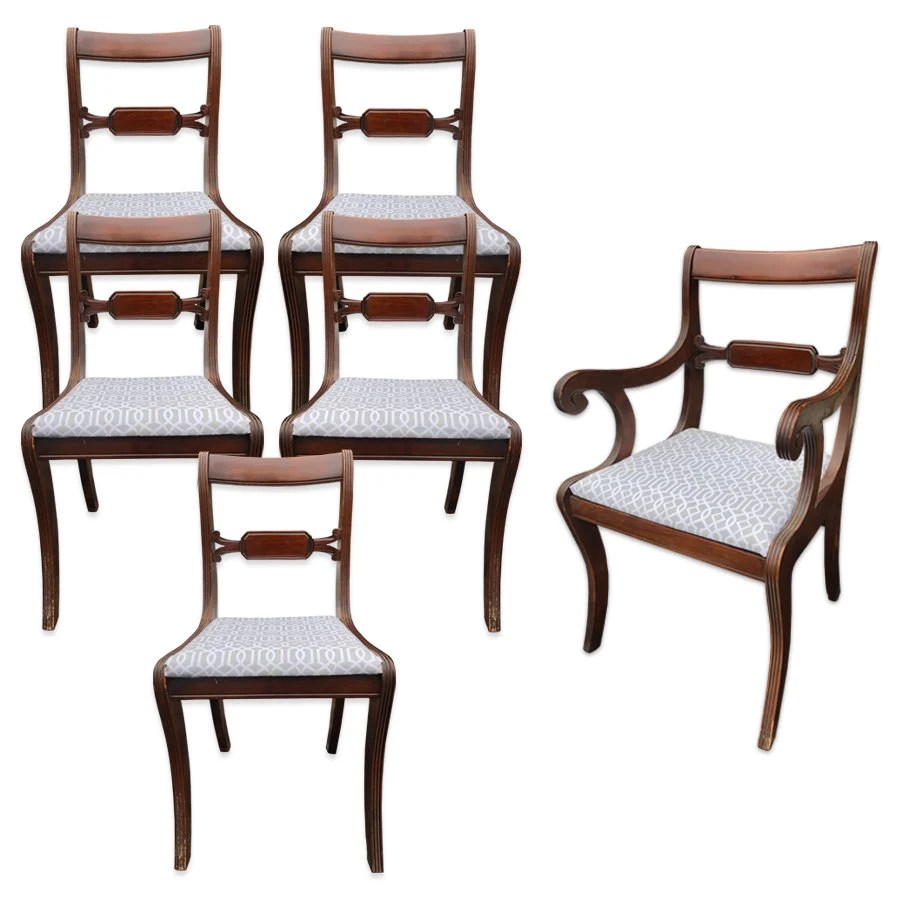 tell city chairs pattern 4526 salon ebay chair etsy set of 6 antique co mahogany regency dining