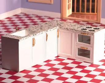 kitchen miniature ikea base cabinets etsy all in one l shaped for 1 12 scale dolls houses