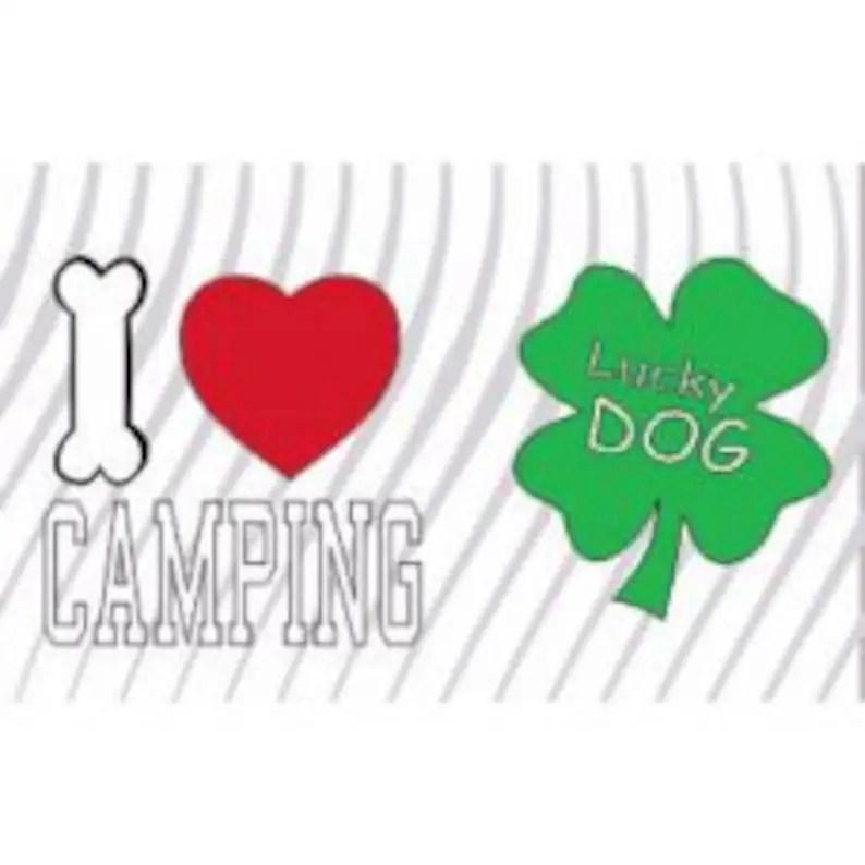 Download I Love camping-Lucky dog svg svg file Sublimation high | Etsy