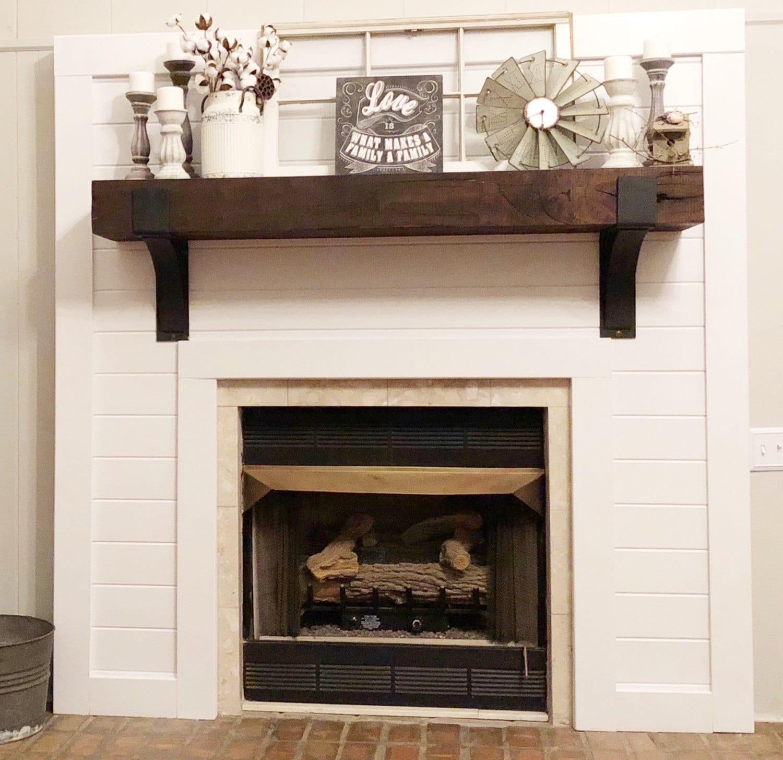 Fireplace Mantel Mantel Decor Rustic Mantel Farmhouse