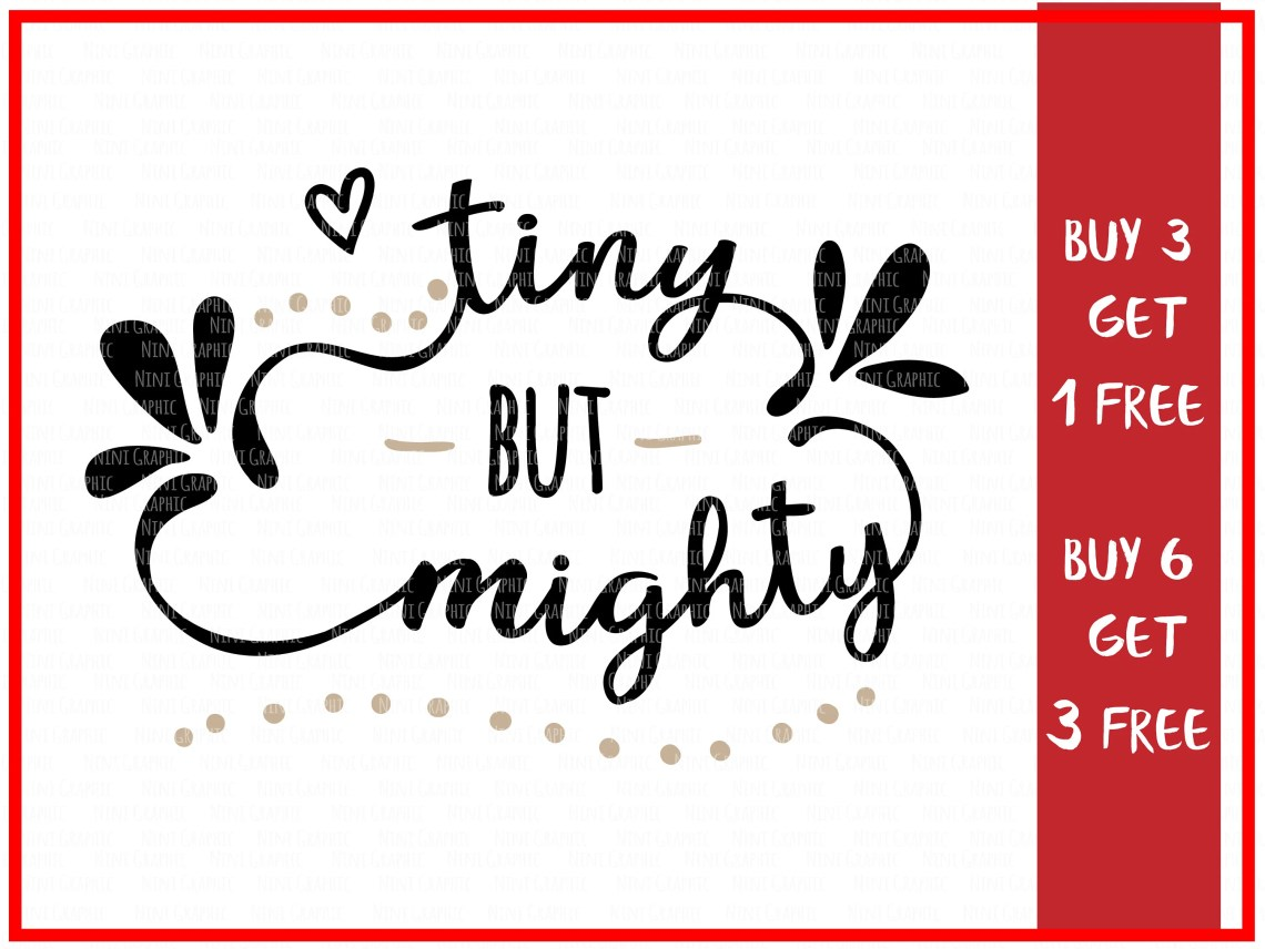 Download Tiny but mighty kid SVG Baby svg girl svg onesie svg | Etsy