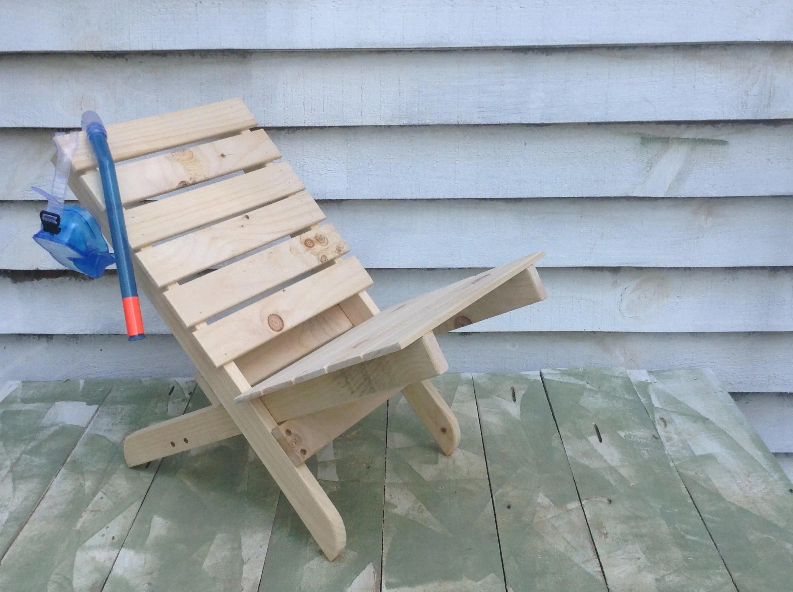 wood camp chair swivel markus etsy kid s wooden collapsible
