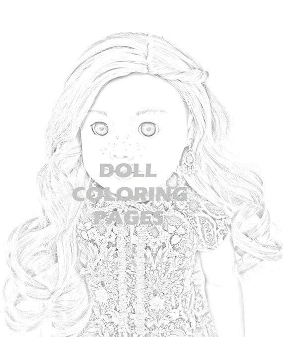 American Girl Doll Coloring Pages Tenney Grant Adult