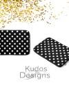 Polka Dot Print Black And White Laptop Sleeve Macbook Case Etsy