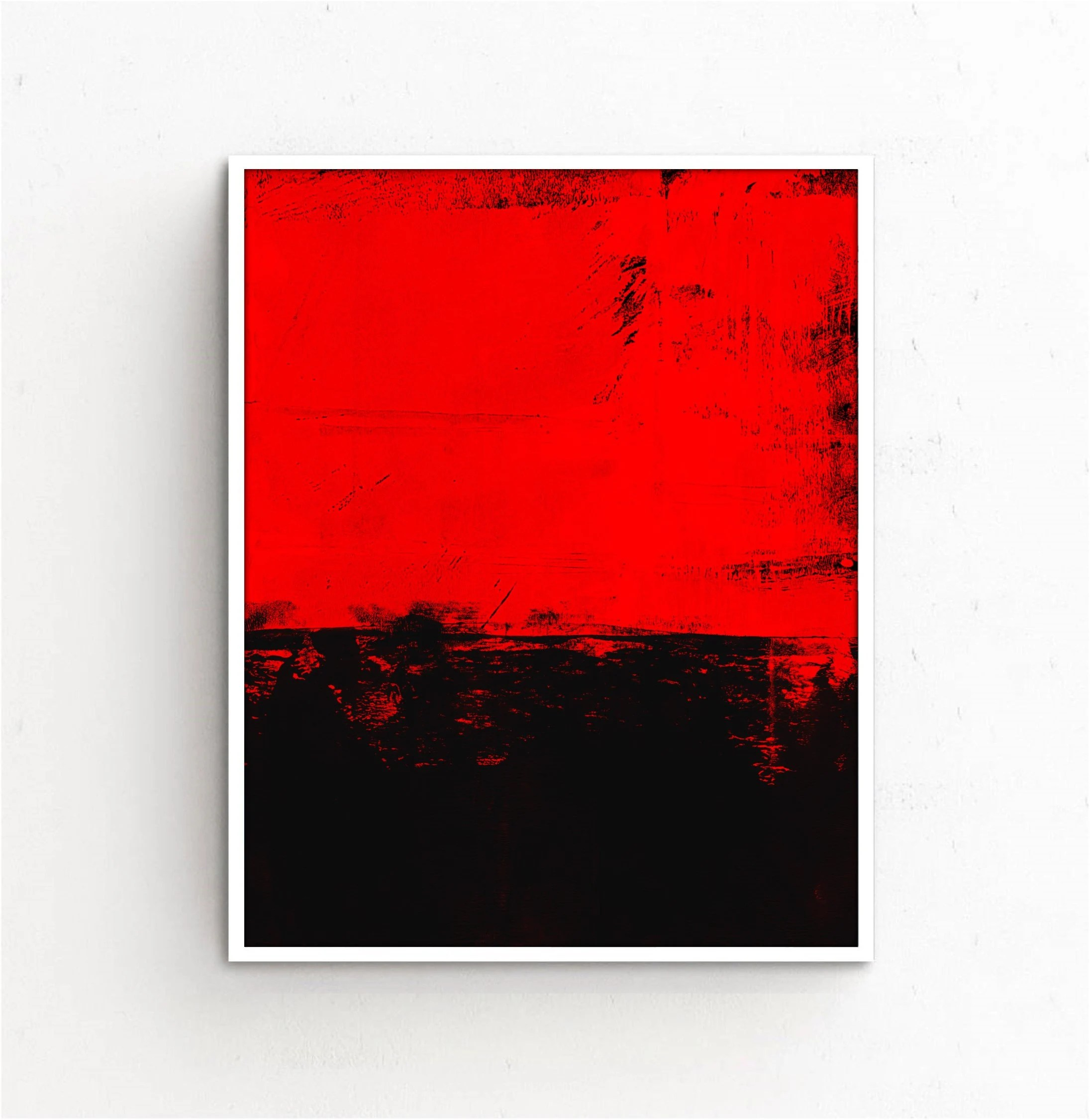red and black art