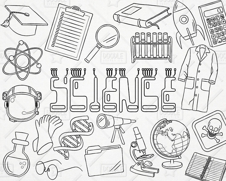 Doodle Science Vector Pack, Science Doodles, Mad Scientist