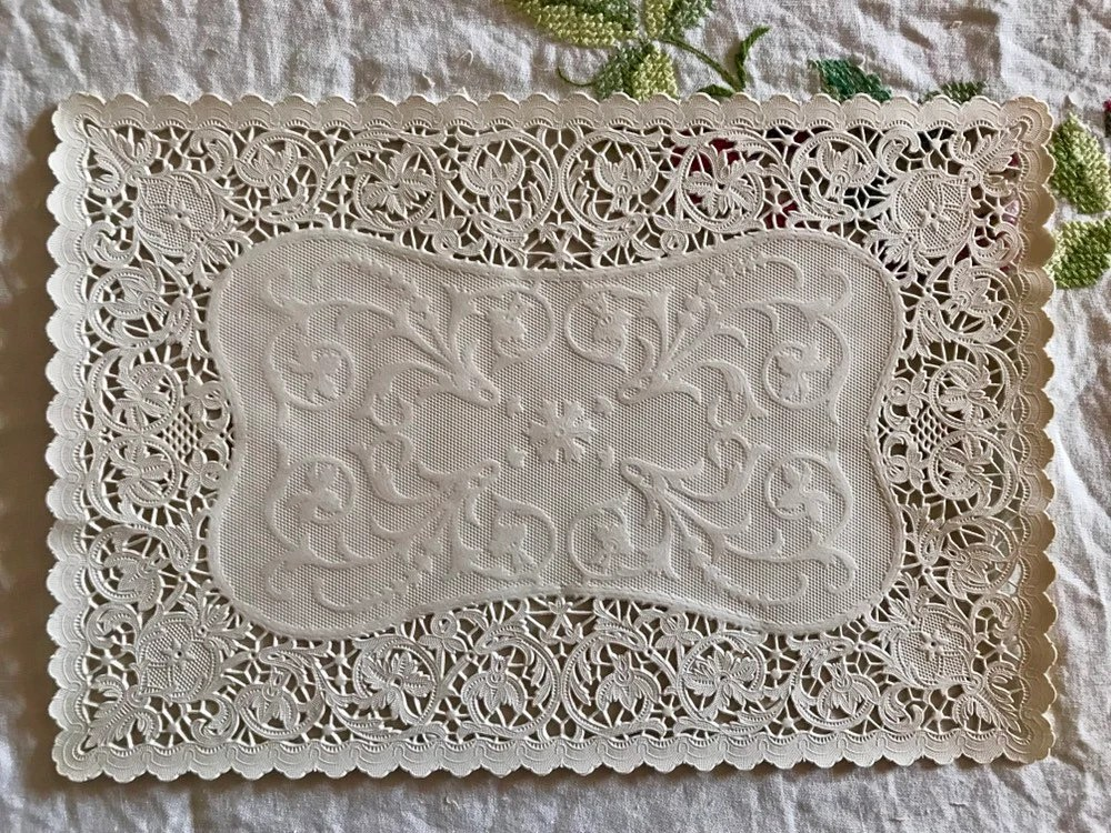 lace placemats etsy