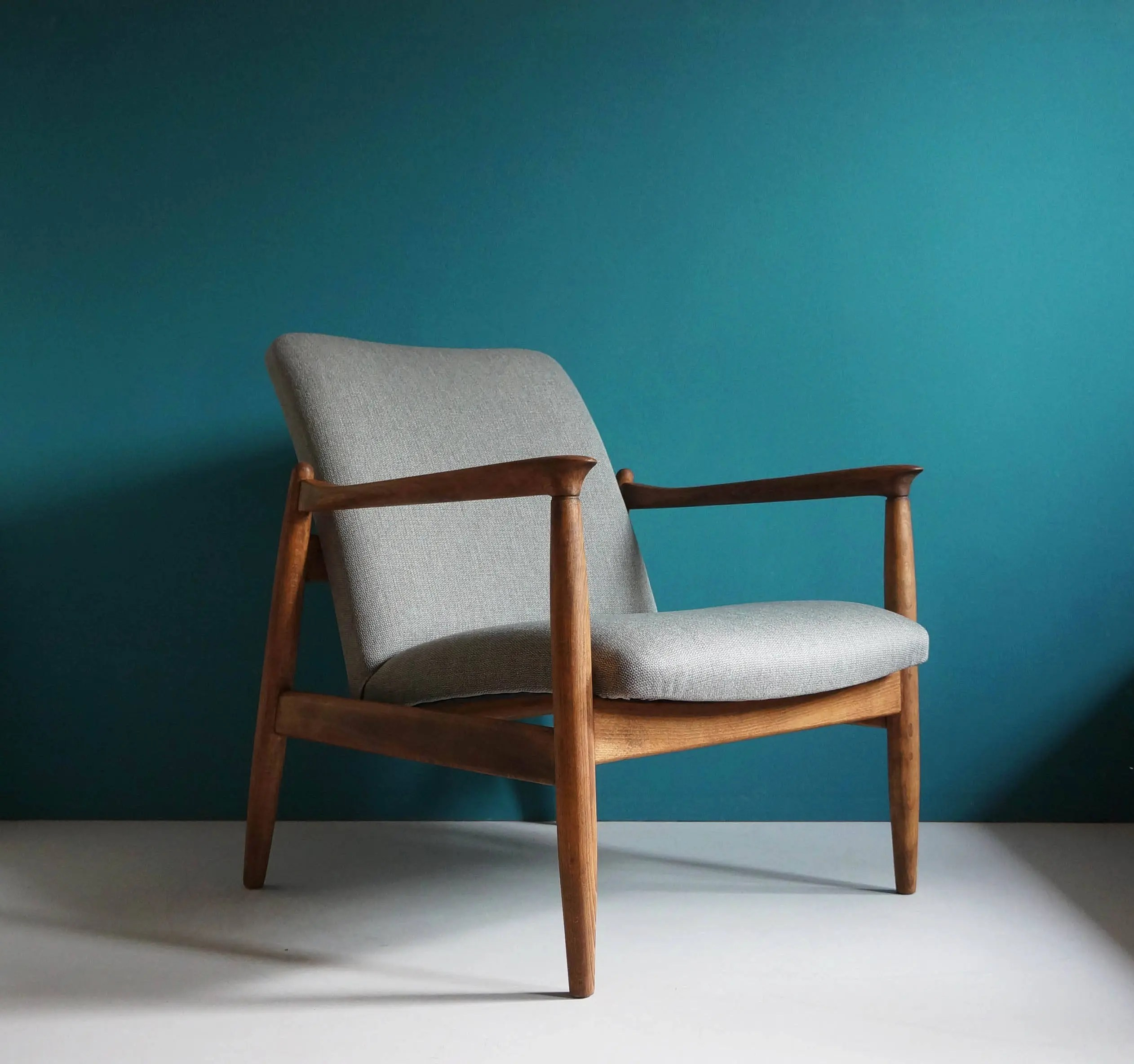 vintage arm chair shop chairs on wheels armchair etsy form mid century designed by edmund homa restored