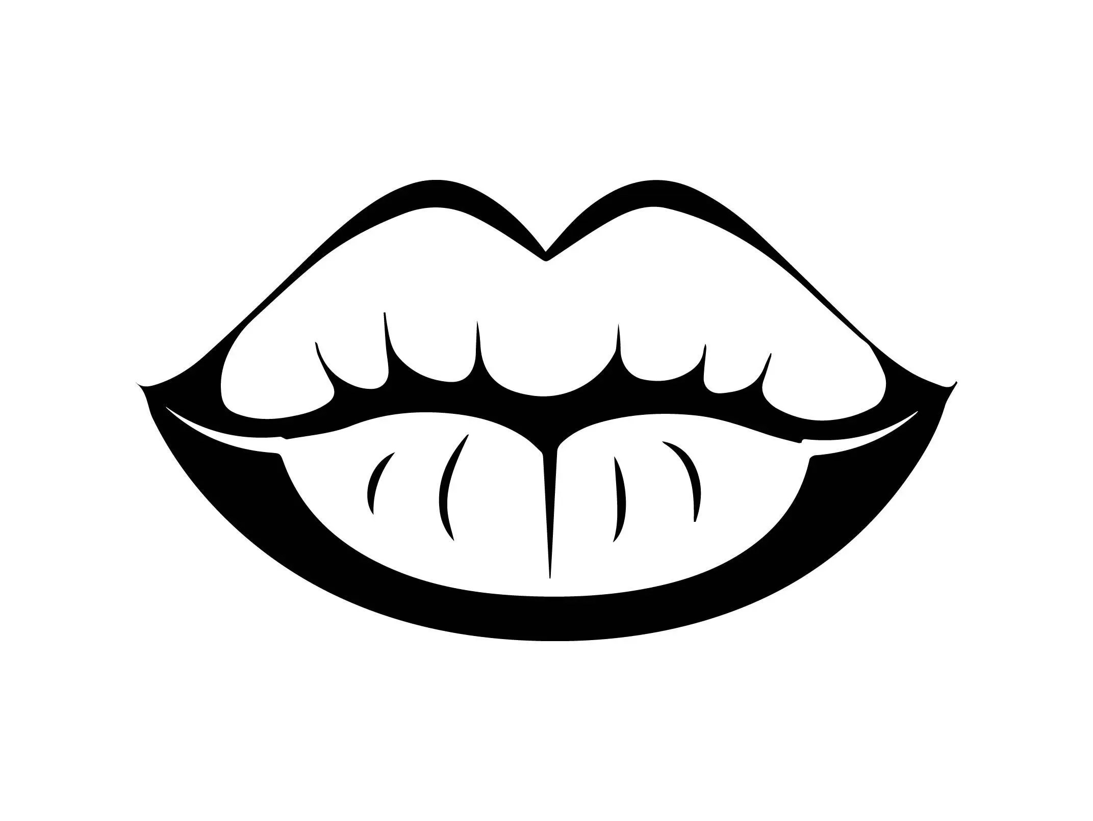 Mouth Lips Sensual Glossy Person Desire Female Open Tongue