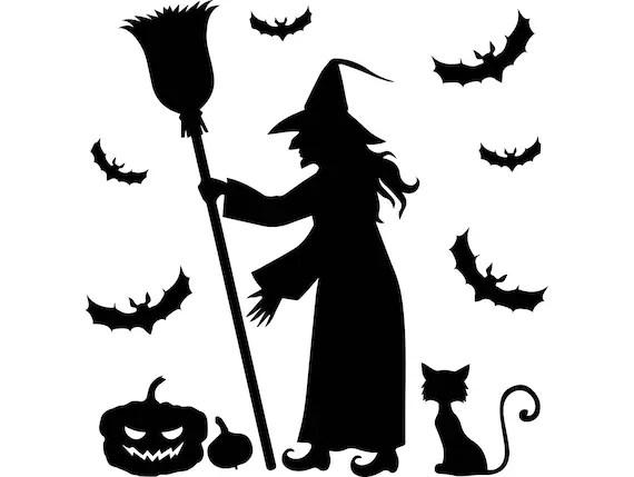 Halloween Bat Witch Pumpkin Cartoon Spooky Vampire Dracula