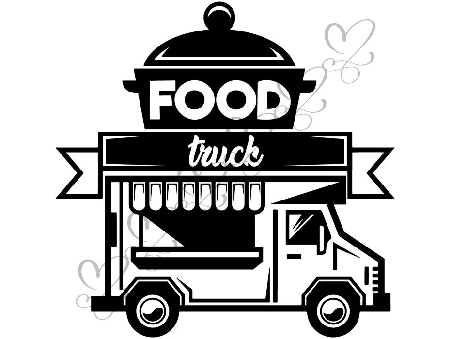 Food Truck Mobile Restaurant Fast Grill Logo Bbq Grilling