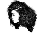 black woman afro hair african american