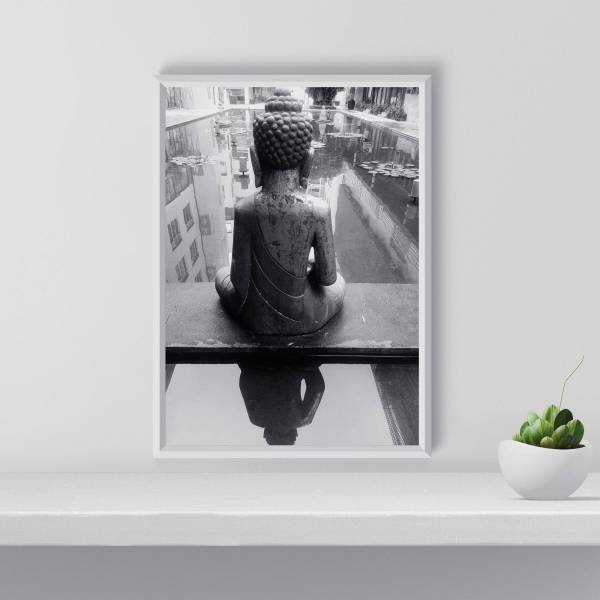 Buddha Wall Art Prints Print Black And White