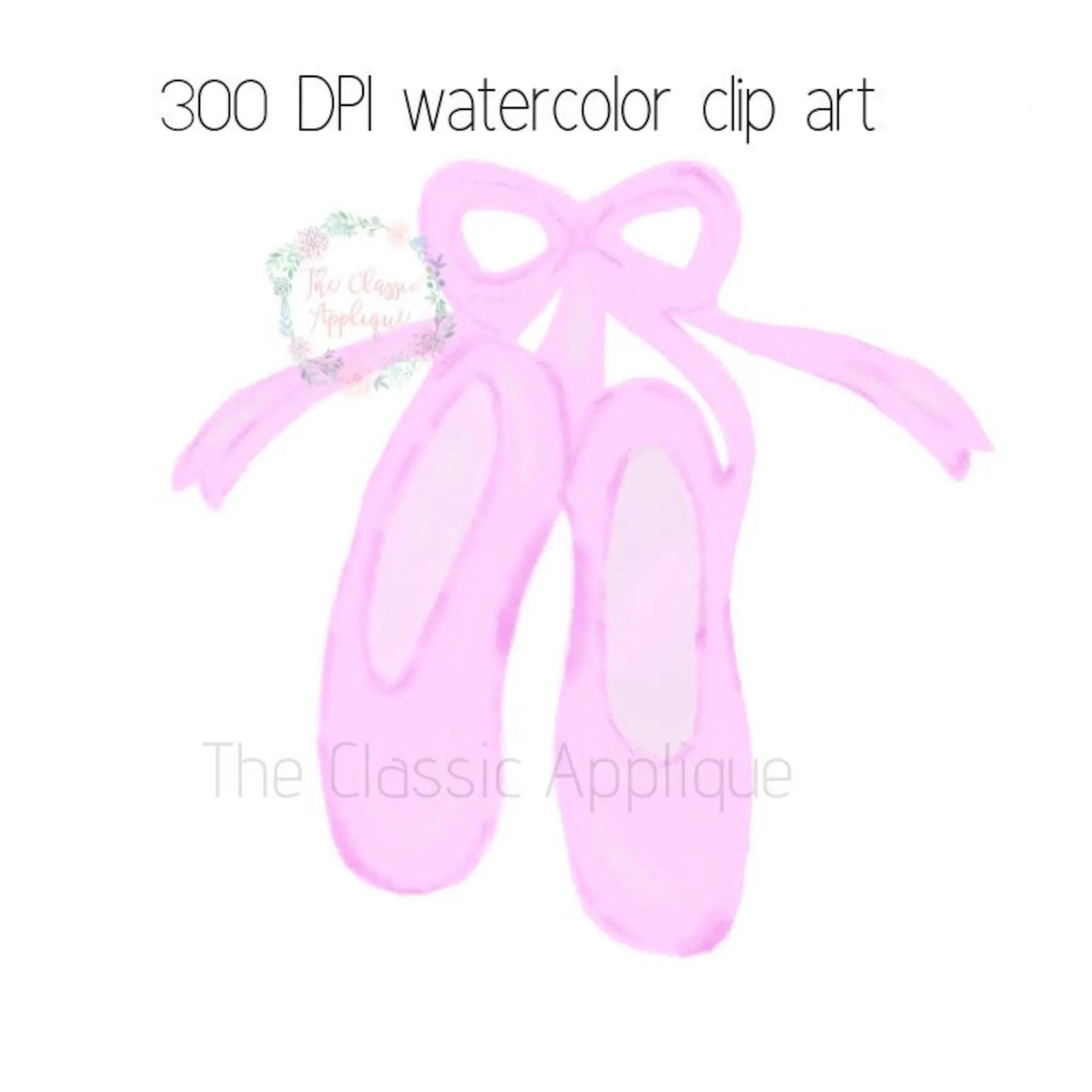 Ballerina Ballet Shoes Slippers Watercolor Printable