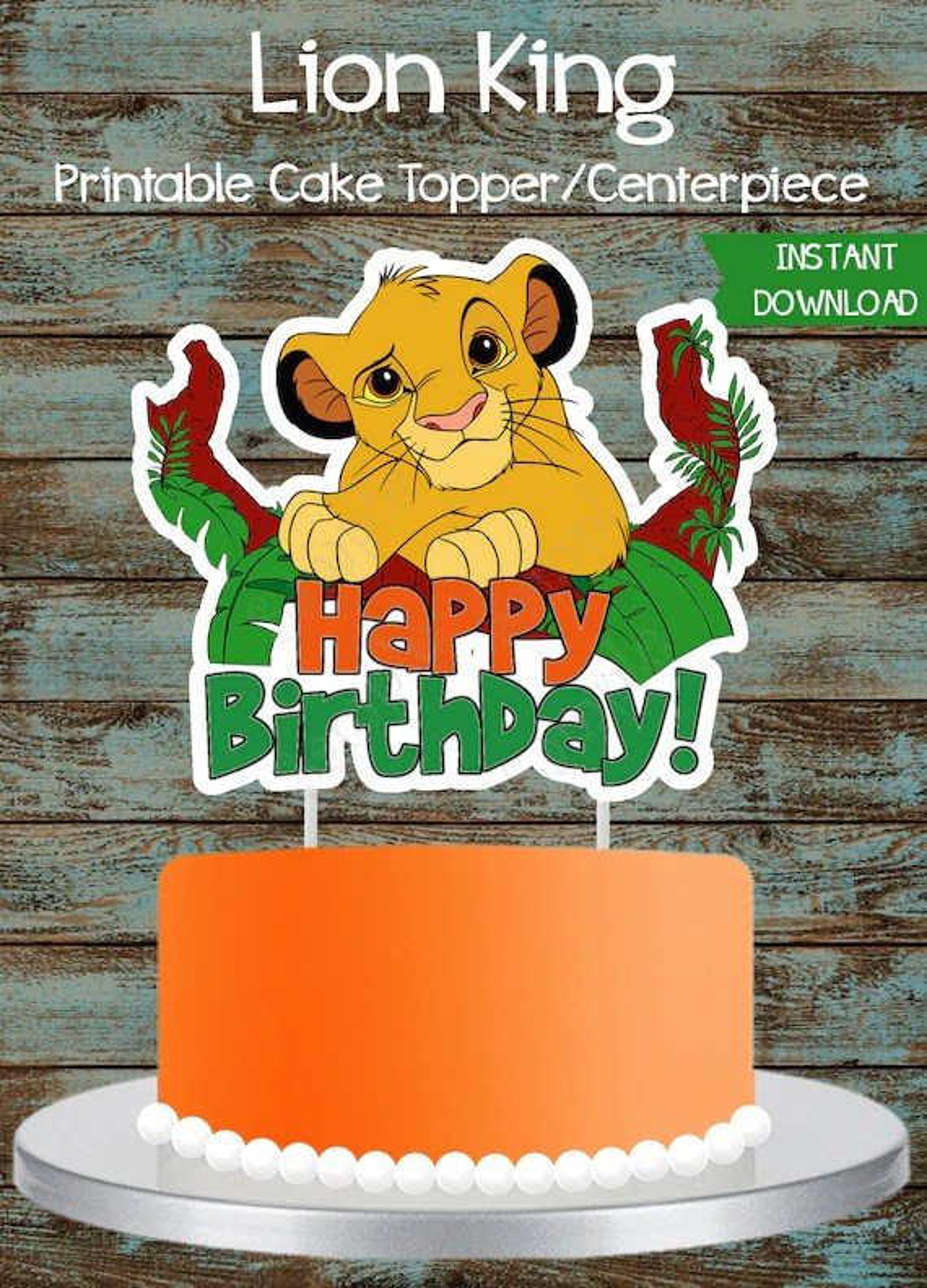 Lion King Cake Topper Lion King Printable Cake Topper Lion