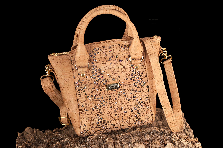 Cork Bag Cork Handbag Vegan Leather Purse Cork Fabric Tote