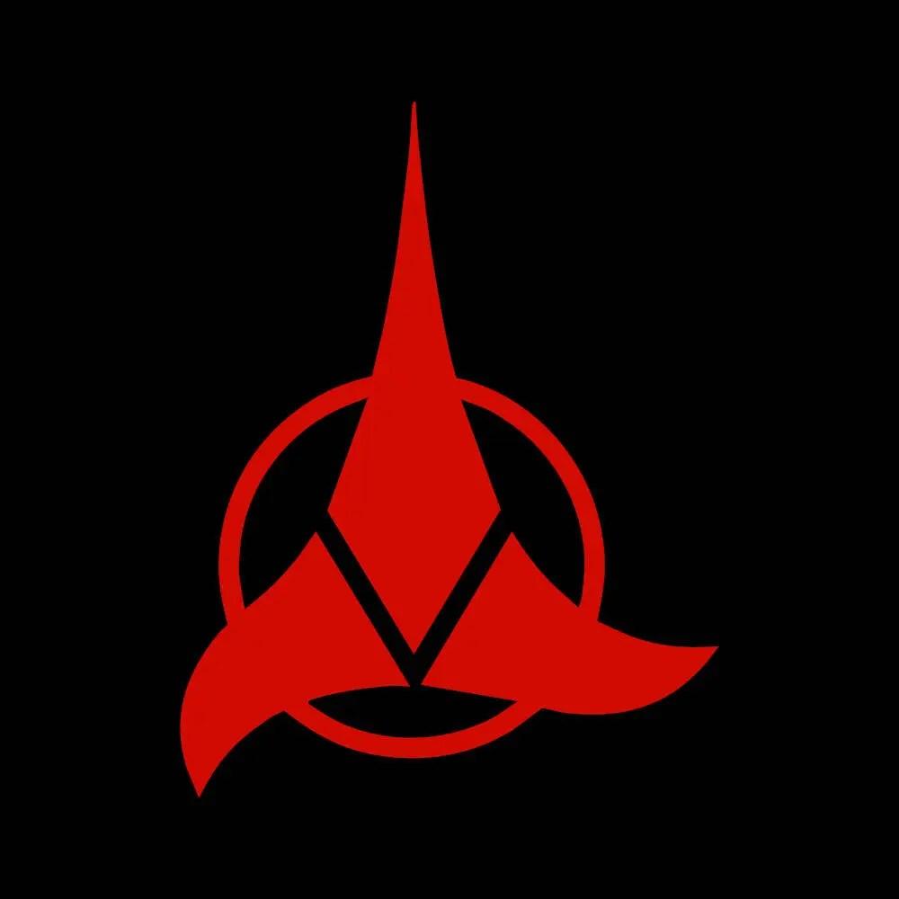klingon badge logo decal