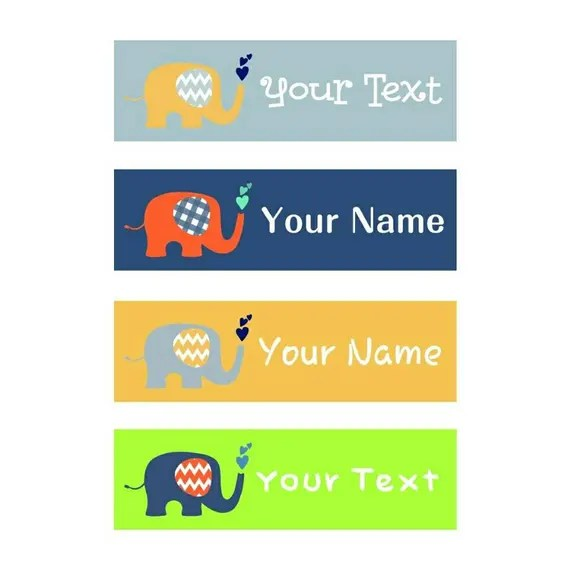 Custom Name Tag For Kidspersonalized Iron On Clothing Tagcustom Clothing Label For Childreniron On Name Tag For Kids70pcslot