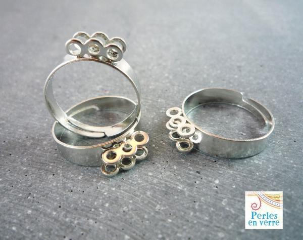 5 Supports Rings Silver Metal 6 7mm Ba13 Tray