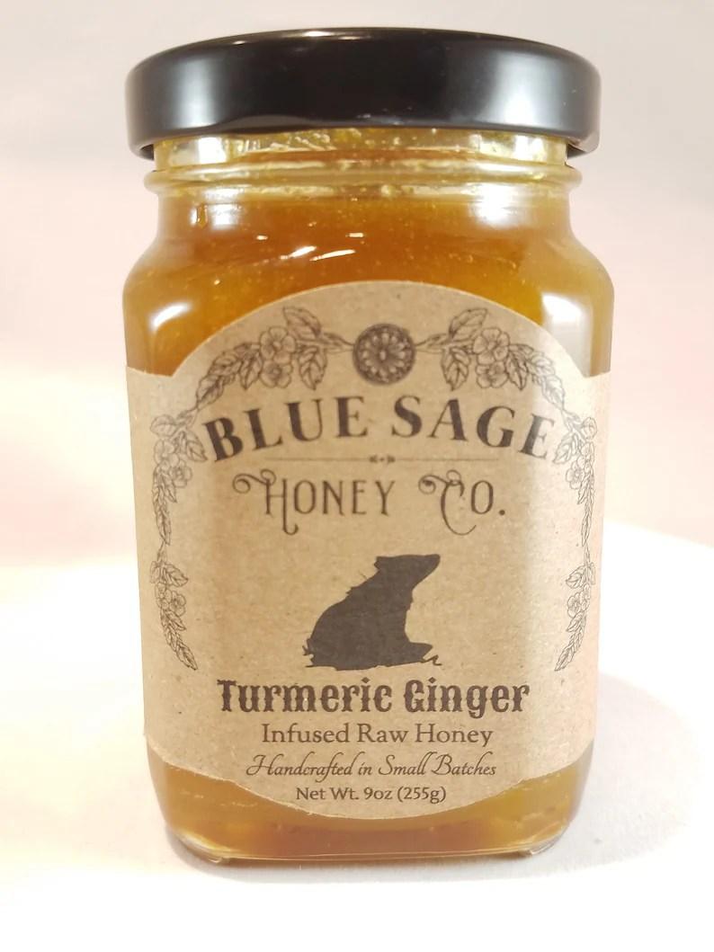 Turmeric Ginger Honey Raw Honey Golden Milk Tea Organic | Etsy