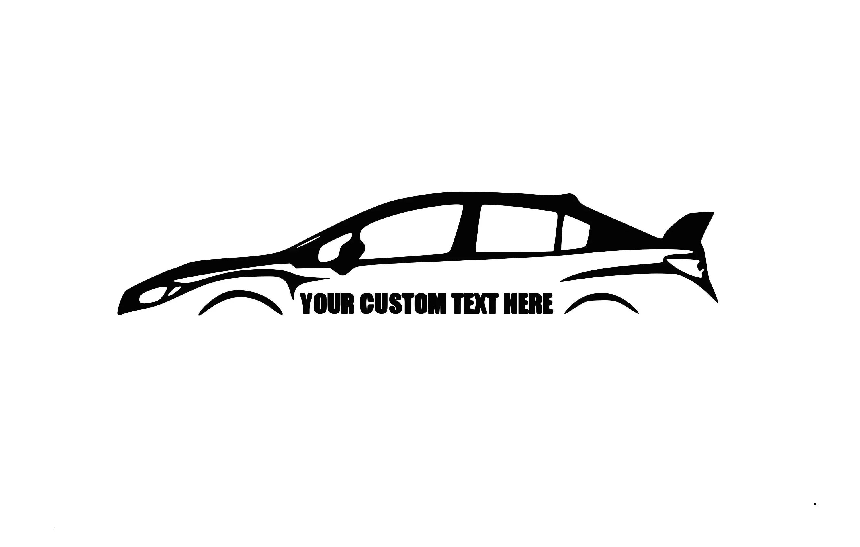Subaru 2015 Wrx STI Custom Decal JDM Decal Subaru Decal