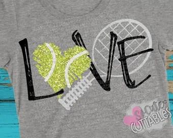 Download Tennis ball svg | Etsy